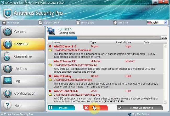 antivirus system pro