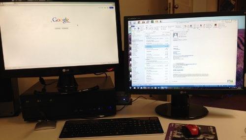 dual monitors business