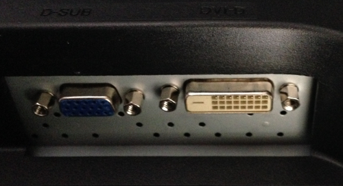 vga and dvi ports on monitor