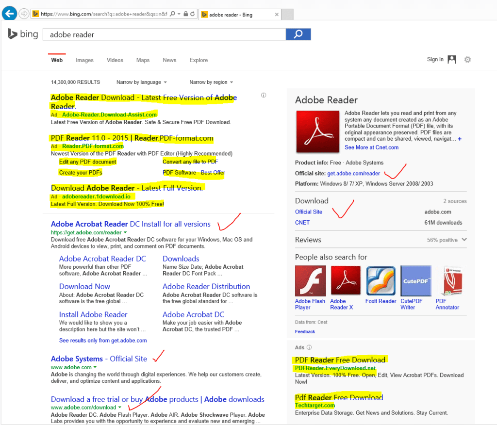 adobe-reader-results-bing