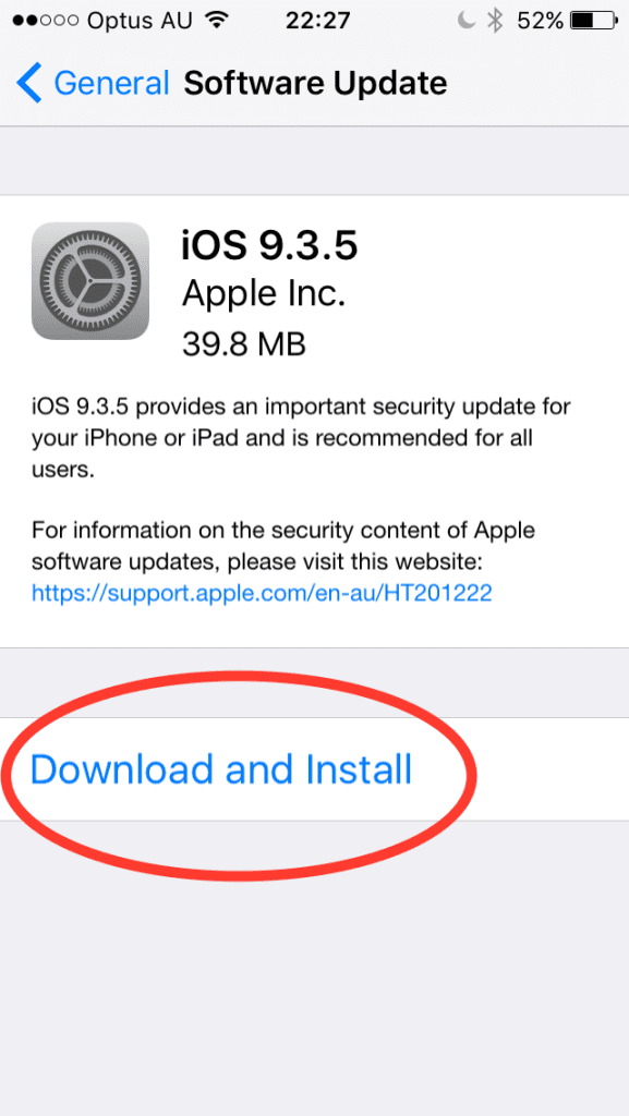 iOS 9.3.5 download and Install