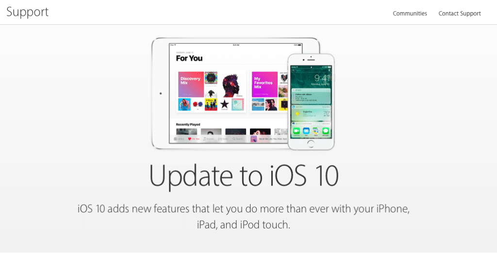 To update your iphone or ipad to ios 10 using itunes imac macbook