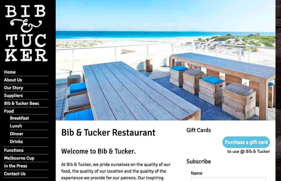 Bib and Tucker Restaurant