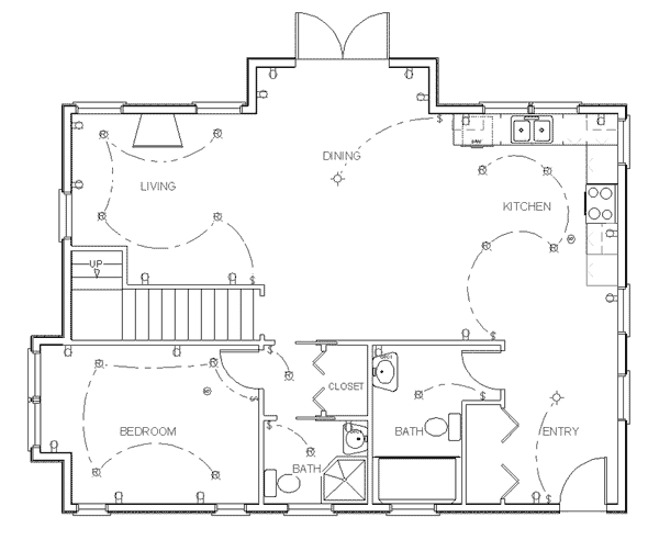 Electrical floor plan the it guys for House drawing plan layout