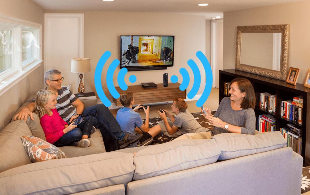 modem in lounge