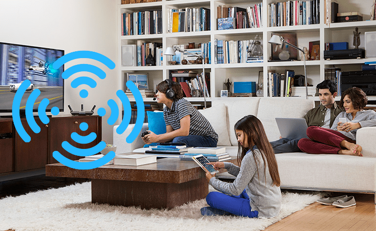 Free your family from the lounge room. Give them hi-speed wi-fi internet throughout the whole house.
