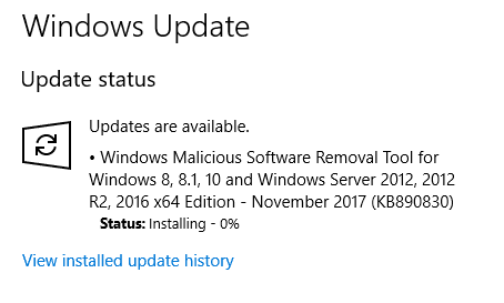 windows update progress