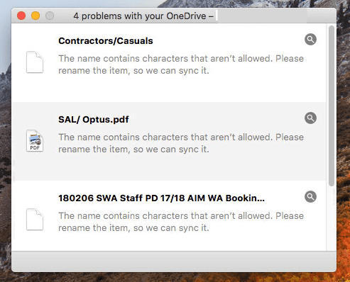 onedrive illegal characters in file names