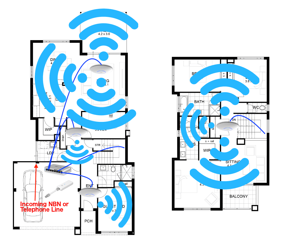 Wireless Smart Wired Home Solutions For Extra Large Homes From 1559 Wiring New The It Guys To Deploy A Quadruple Wap Solution Sized House With Existing Within 10k Of Subiaco Estimated Cost Would Be