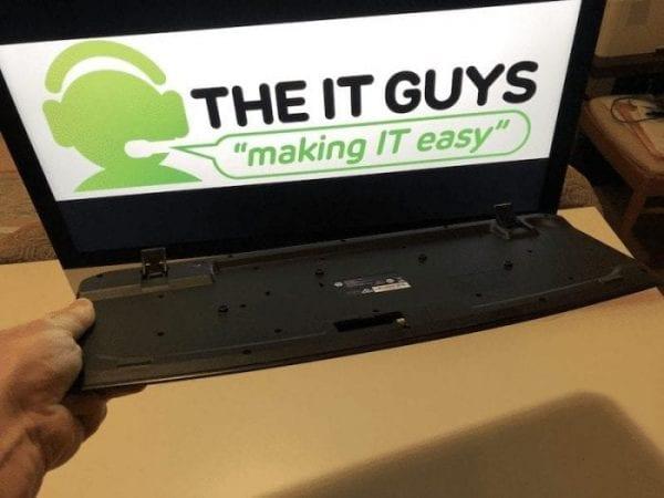 turn keyboard upside down to clean