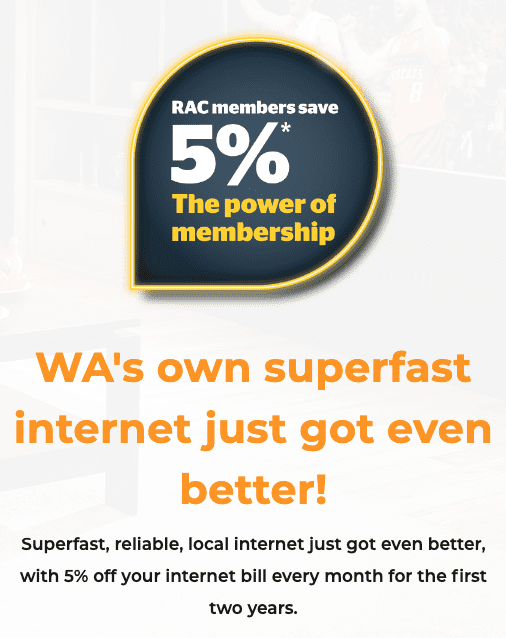 5pc discount off pentanet for RAC members